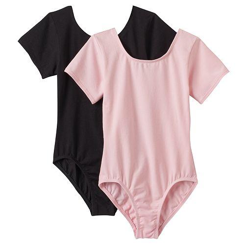 Girls 4-16 2-pk. Short Sleeve Leotards