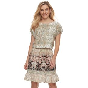 Women's SONOMA Goods for Life? Printed Fit & Flare Dress