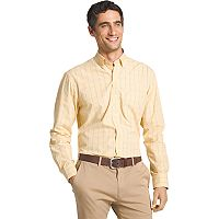 Men's IZOD Essential Regular-Fit Windowpane Button-Down Shirt