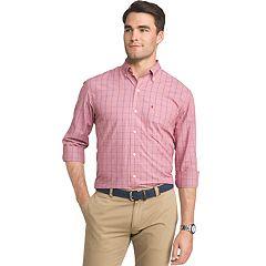 Men's IZOD Essential Regular-Fit Windowpane Button-Down Shirt