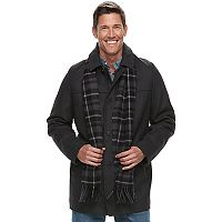 Men's Dockers Wool-Blend Coat with Scarf