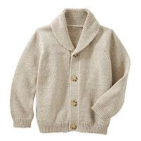 Toddler Boy OshKosh B'gosh® Marled Shawl-Collar Cardigan Sweater
