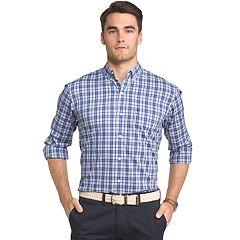 Men's IZOD Advantage Regular-Fit Sport Flex Plaid Stretch Button-Down Shirt