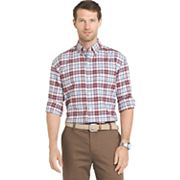 Men's IZOD Saltwater Regular-Fit Plaid Oxford Button-Down Shirt