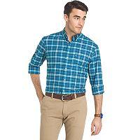 Men's IZOD Saltwater Regular-Fit Plaid Oxford Button-Down Shirt