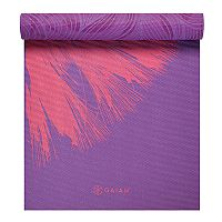 Gaiam 6mm Dandelion Roar Reversible Yoga Mat