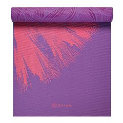 Gaiam 6mm Dandelion Roar Reversible Yoga Mat