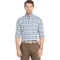 Men's IZOD Saltwater Regular-Fit Plaid Stretch Button-Down Shirt