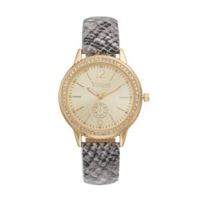 Vivani Women's Crystal Snakeskin Watch