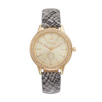 Vivani Women's Crystal Snakeskin Watch