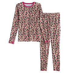 Girls 4-16 Cuddl Duds Stretchy Top & Bottoms Set