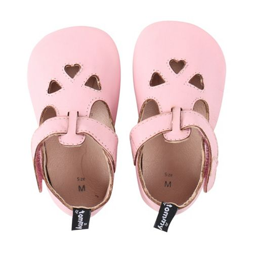 Baby Girl Tommy Tickle Heart Crib Shoes