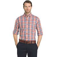 Men's IZOD Fieldhouse Regular-Fit Plaid Easy-Care Button-Down Shirt