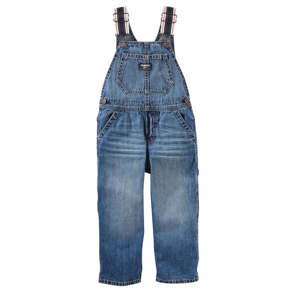 Toddler Boy OshKosh B'gosh® Striped Straps Denim Overalls