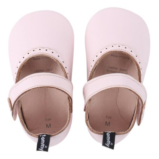 Baby Girl Tommy Tickle Perforated Mary-Jane Crib Shoes