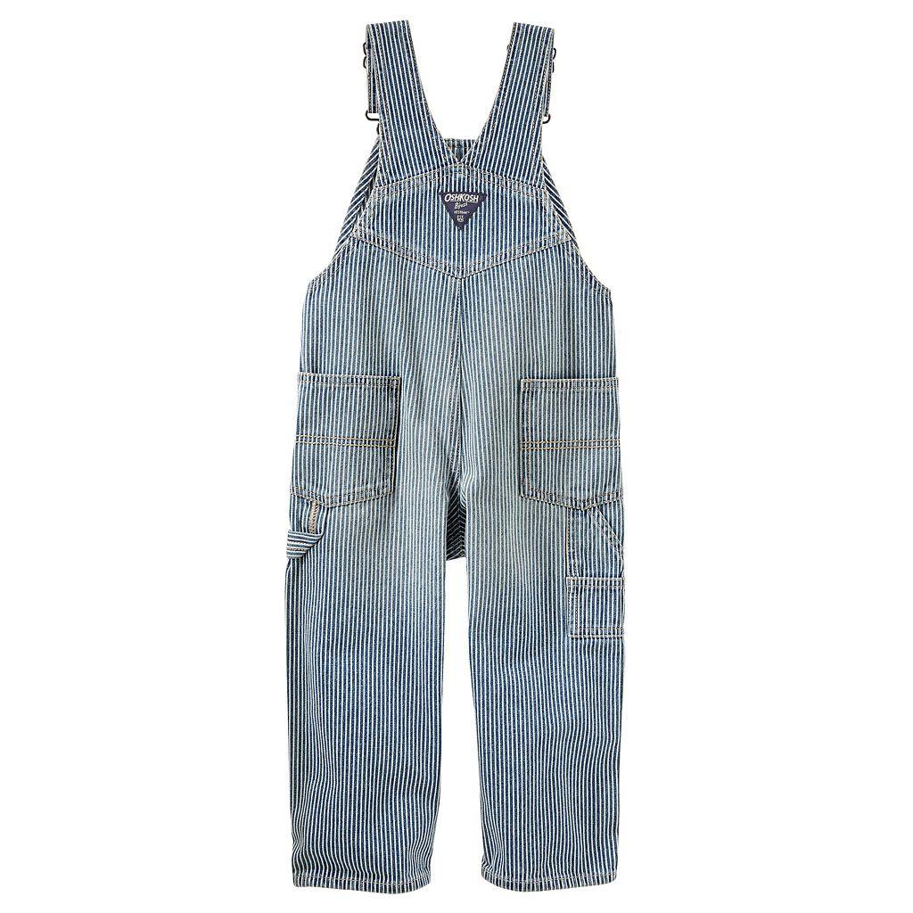 Toddler Boy OshKosh B'gosh® Striped Denim Overalls