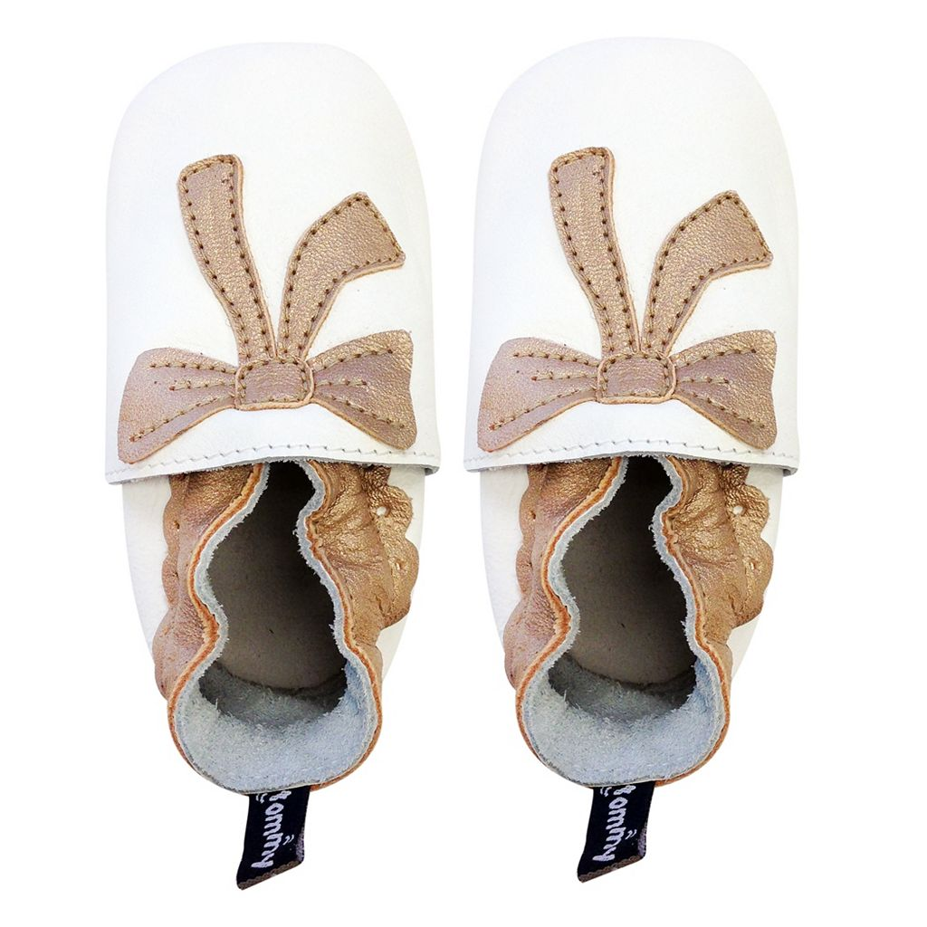 Baby Girl Tommy Tickle Bow Slip-On Crib Shoes