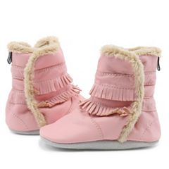 Baby Girl Tommy Tickle Fringe Leather Boots