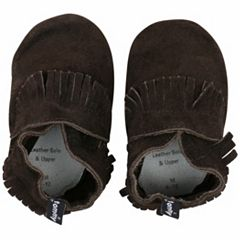 Baby Boy Tommy Tickle Fringe Slip-On Crib Shoes