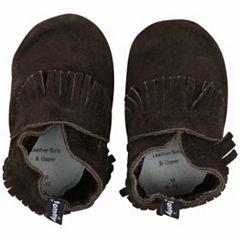 Baby Boy Tommy Tickle Fringe Slip-On Crib Shoes