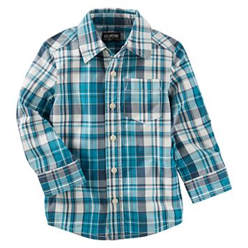 Toddler Boy OshKosh B'gosh® Long-Sleeve Plaid Shirt