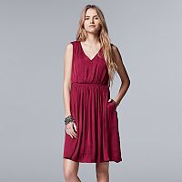 Women's Simply Vera Vera Wang V-Neck Smocked Dress