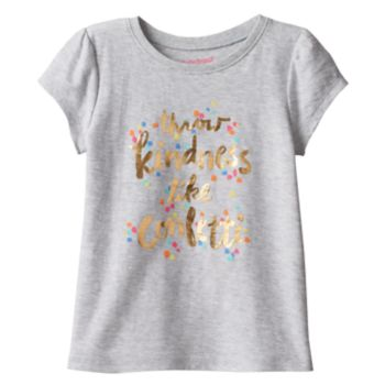 """Toddler Girl Jumping Beans® """"Throw Kindness Like Confetti"""" Foil Graphic Tee"""