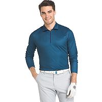 Men's IZOD Swingflex Athletic-Fit Houndstooth Performance Golf Quarter-Zip Pullover