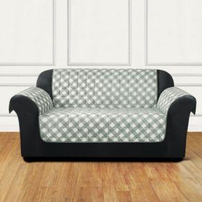Sure Fit Furniture Flair Gingham Plaid Sofa Slipcover