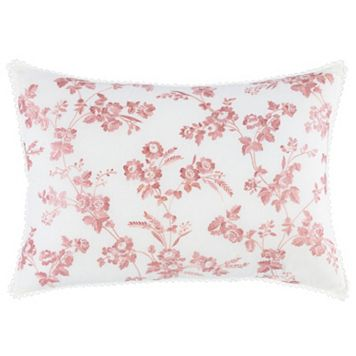 Laura Ashley Lifestyles Olivia Floral Embroidered Throw Pillow