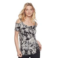 Women's Rock & Republic® Chain Accent Cold-Shoulder Top