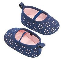 Baby Girl OshKosh B'gosh® Laser-Cut Mary Jane Crib Shoes