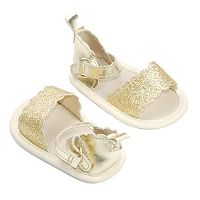 Baby Girl OshKosh B'gosh® Metallic Gold Scalloped Crib Sandal