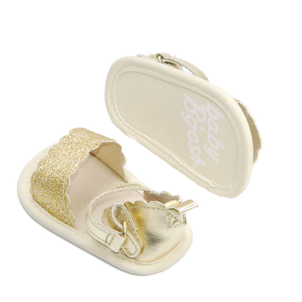 Baby Girl OshKosh B'gosh® Metallic Gold Scalloped Crib Sandal