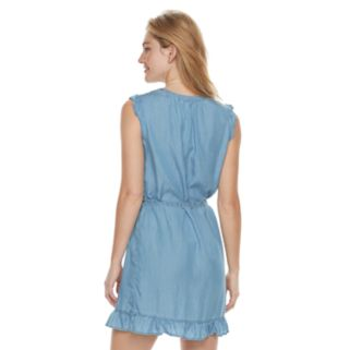 Women's SONOMA Goods for Life™ Ruffle Chambray Shift Dress