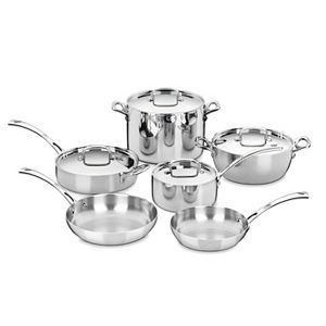 Cuisinart® 10-pc. French Classic Tri-Ply Stainless Steel Cookware Set