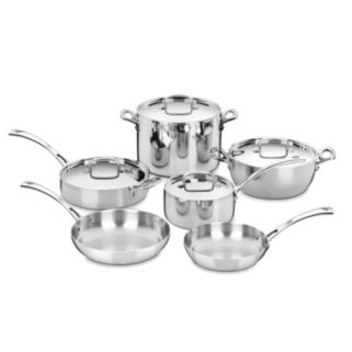 Cuisinart 10-pc. French Classic Tri-Ply Stainless Steel Cookware Set