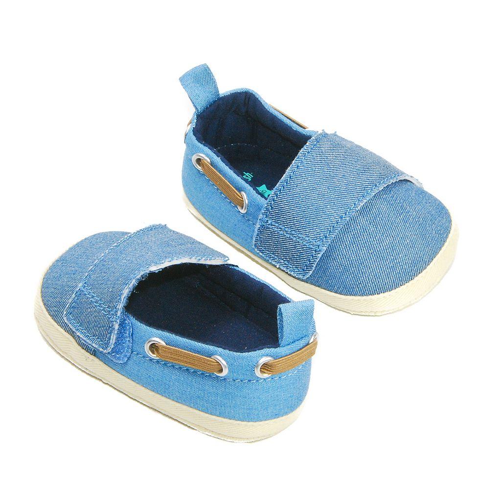 Baby Boy OshKosh B'gosh® Laced Chambray Crib Shoes