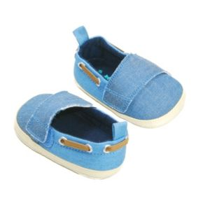 Baby Boy OshKosh B'gosh® Laced Chambray Crib Shoes