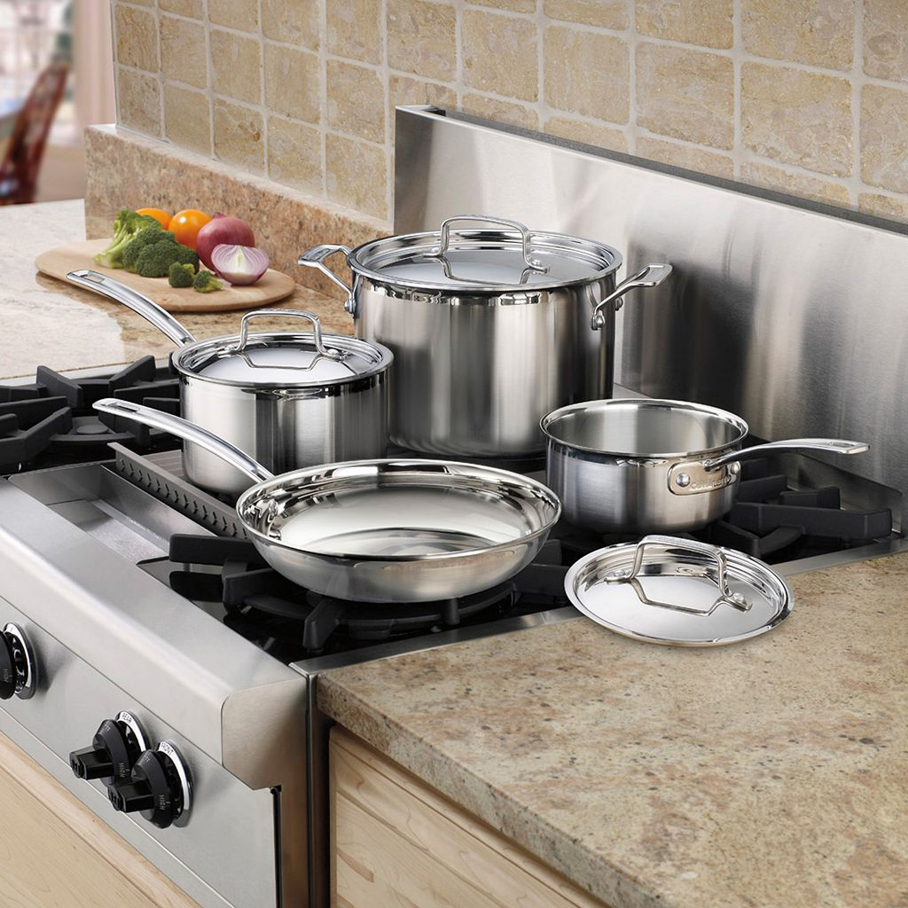 Cuisinart 7-pc. MultiClad Pro Triple Ply Stainless Steel Cookware Set