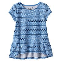 Toddler Girl Jumping Beans® Print High-Low Hem Tee