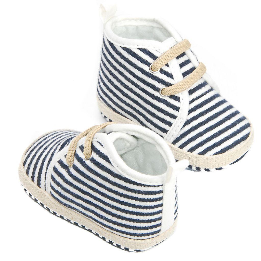 Baby Girl OshKosh B'gosh® Striped Crib Shoes