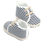 Baby Girl OshKosh B'gosh® Striped Crib Shoes
