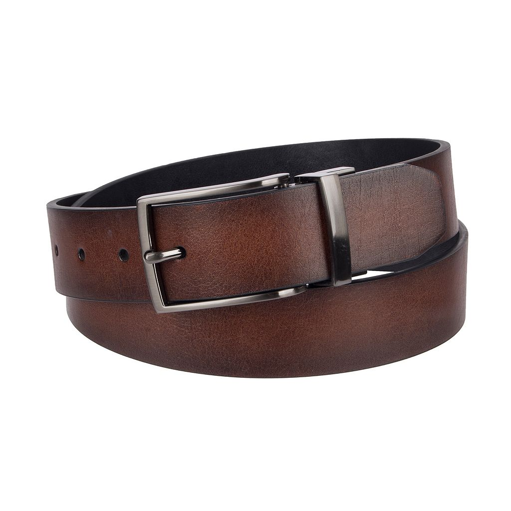 Men's Apt. 9® Reversible Dome-Edge Belt