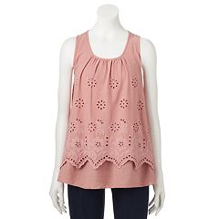 Women's SONOMA Goods for Life™ Layered Eyelet Tank