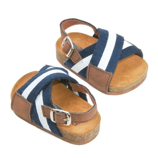 Baby Girl OshKosh B'gosh® Striped Crisscross Crib Sandal