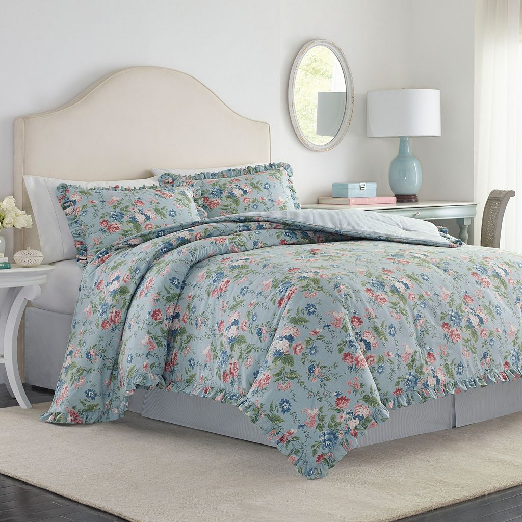 Laura Ashley Lifestyles 4-piece Olivia Comforter Set