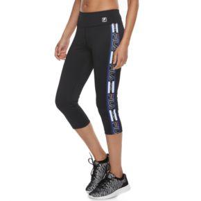 Women's FILA SPORT® Side Panel Running Capri Leggings