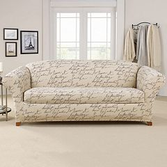 Sure Fit 2 pc Waverly Stretch Pen Pal Sofa Slipcover