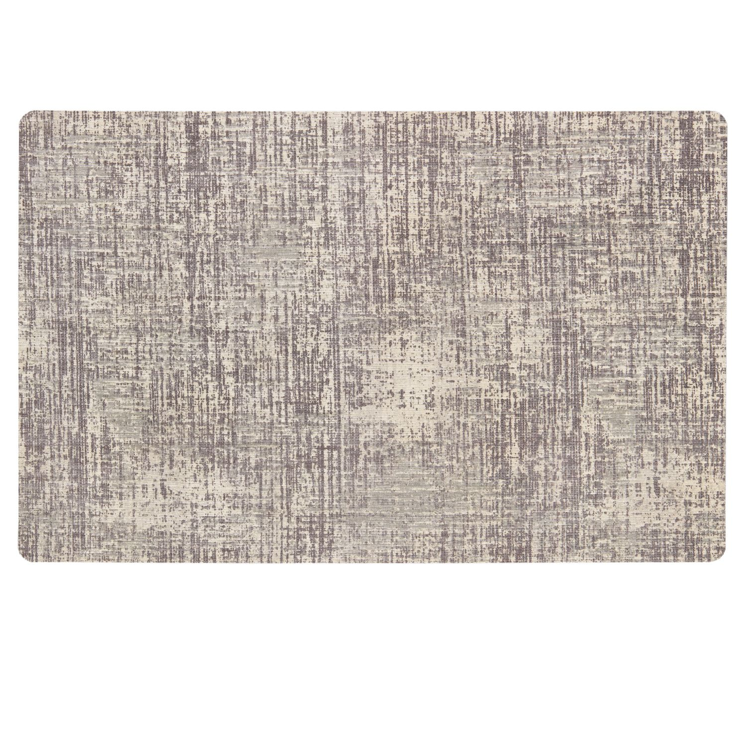 Mohawk® Home Neoprene Textured Striations Kitchen Mat. Gray Tan